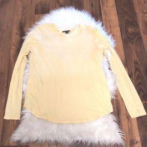 Vince  crew Neck Soft Viscose Top shirt yellow L